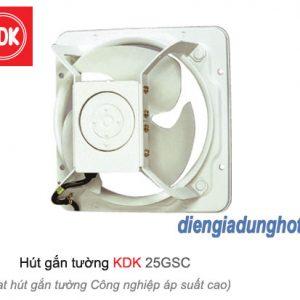 Quạt hút gắn tường công nghiệp áp suất cao KDK 25GSC