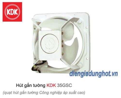Quạt hút gắn tường công nghiệp áp suất cao KDK 35GSC