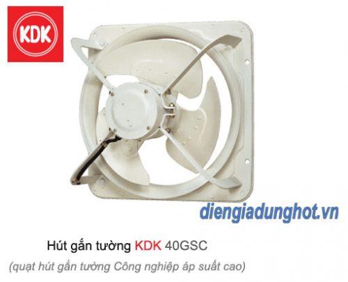 Quạt hút gắn tường công nghiệp áp suất cao KDK 40GSC