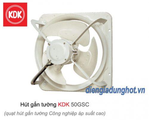 Quạt hút gắn tường công nghiệp áp suất cao KDK 50GSC