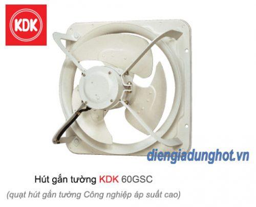 Quạt hút gắn tường công nghiệp áp suất cao KDK 60GSC