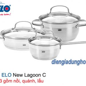 BỘ 3 NỒI ELO NEW LAGOON C - 3 CHIẾC 6 MÓN